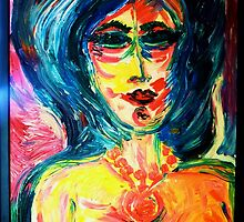 INSISTING WOMAN - oil, canvas 24 x 32'' by irishrainbeau
