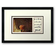 clay and potter Framed Print