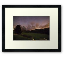 Star Sky Night at Bolton Abbey Grounds Framed Print
