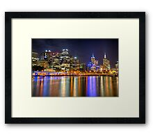 Melbourne Skyline Reflections Framed Print