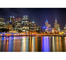 Melbourne Skyline Reflections Photographic Print
