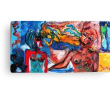 PREDICTION - oil, acrylic, canvas 24 x 48'' Canvas Print