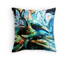 NIGHT LILIES - acrylic, tempera, paper 22 x 28'' Throw Pillow