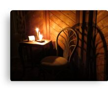 Candle Light and Shadows Canvas Print