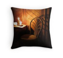 Candle Light and Shadows Throw Pillow