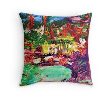 SOUTHERN CALIFORNIA - oil, paper 22 x 28'' Throw Pillow