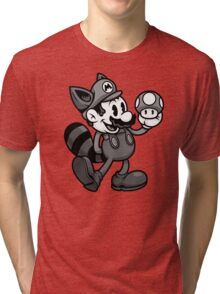 Vintage Plumber B&W Tri-blend T-Shirt