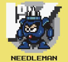 Needle Man with Black Text by Funkymunkey
