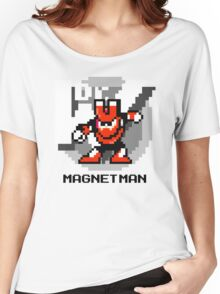 Magnet Man with Black Text Women's Relaxed Fit T-Shirt