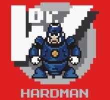 Hard Man with Ice Blue Text by Funkymunkey