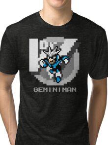 Gemini Man with Grey Text Tri-blend T-Shirt