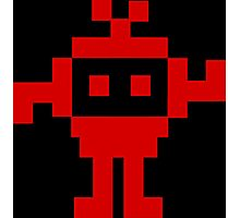 8 Bit Invader, 8 Bit Monster, Pixel Invader Photographic Print