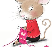KNITTING VALENTINE MOUSE by Jane Newland