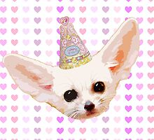 Party Animal - Fennec Fox by hunnydoll