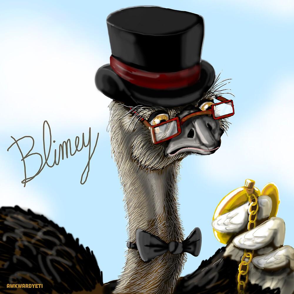 The Fancy Ostrich by theawkwardyeti