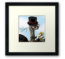 The Fancy Ostrich Framed Print