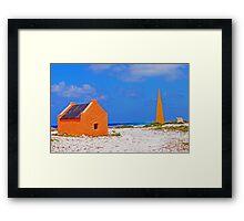 Bonaire Slave Huts Framed Print
