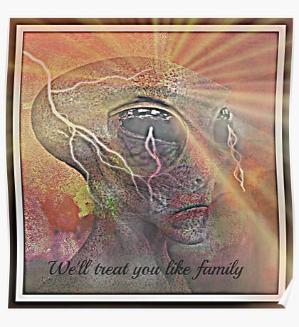 we'll treat you like family Poster