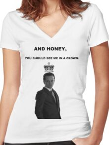 Moriarty's Crown Women's Fitted V-Neck T-Shirt