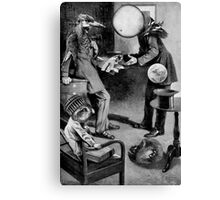 Man Trying To Sell the Deeds to a PLanet. Canvas Print