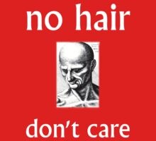 No Hair Don't Care with White Ink by mundaemon
