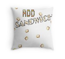 "ADD Sandwich ""Falling Sandwiches!!!"" Throw Pillow"