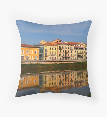 reflections in the water Throw Pillow