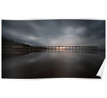 Saltburn - Stormy Sunset Poster