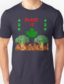 420 BLAZE IT-CANADIAN VEGAN EDITION! Unisex T-Shirt
