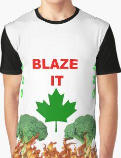 420 BLAZE IT-CANADIAN VEGAN EDITION! Graphic T-Shirt