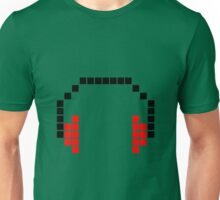 8 Bit Headphones; Pixel Headphones Unisex T-Shirt
