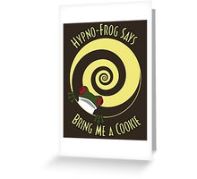 Hypno-Frog (Cookie) Greeting Card