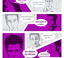 Rules Of Fight Club by ellocoart