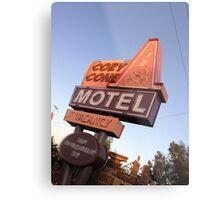 Cozy Cone Motel Sign Metal Print