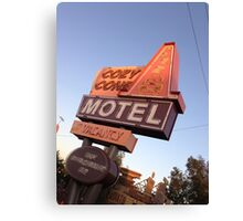 Cozy Cone Motel Sign Canvas Print