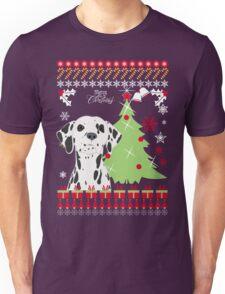 Dalmation Ugly Christmas Sweater Unisex T-Shirt