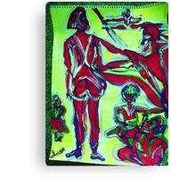 AMAZON - acrylic, tempera, paper 18 x 24'' Canvas Print