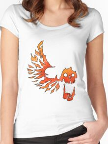 Bandit Flame Wing Skull Women's Fitted Scoop T-Shirt