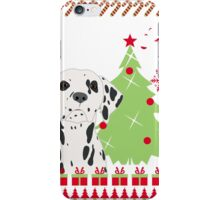 Dalmation Ugly Christmas Sweater iPhone Case/Skin