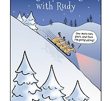 Night Sledding with Rudy by Jenn Inashvili