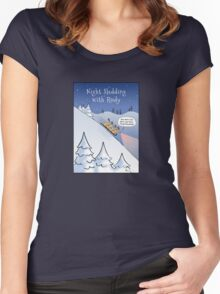 Night Sledding with Rudy Women's Fitted Scoop T-Shirt