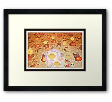 the chickens and the eggs Framed Print