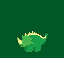 Cute little GREEN Dinosaur by jazzydevil