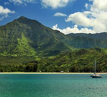 Ready To Sail In Hanalei Bay by James Eddy
