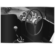 Classic Ferrari Interior Poster