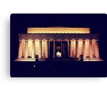 Lincoln Memorial Night Canvas Print