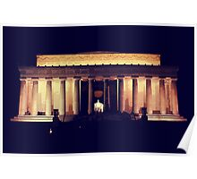 Lincoln Memorial Night Poster