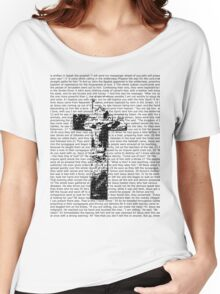 Cross Typography  Women's Relaxed Fit T-Shirt