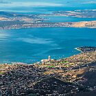 Hobart from Mt. Wellington, Tasmania by Elaine Teague