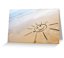 Smiley Sun On The Beach Greeting Card